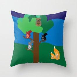 A woodland scene Throw Pillow