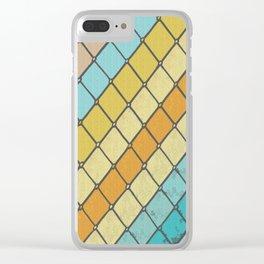 Fish Aqua Print Clear iPhone Case