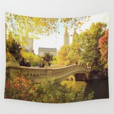 New York City Fall Foliage Wall Tapestry