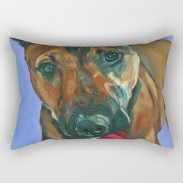 Chance the Terrier Mix Dog Portrait Rectangular Pillow