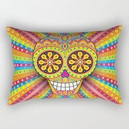 Day of the Dead Sugar Skull (Ahora) Rectangular Pillow