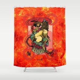 "Ars Tarot of the 12 Zodiac: ""Leo - Strength"" Shower Curtain"