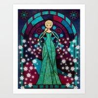 frozen elsa Art Prints featuring Elsa Frozen by JAPdesign
