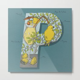P is for Pina Colada Metal Print