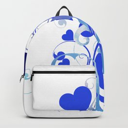 Whimsical Blooming Blue Hearts Backpack