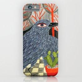 Bird with cactus iPhone Case