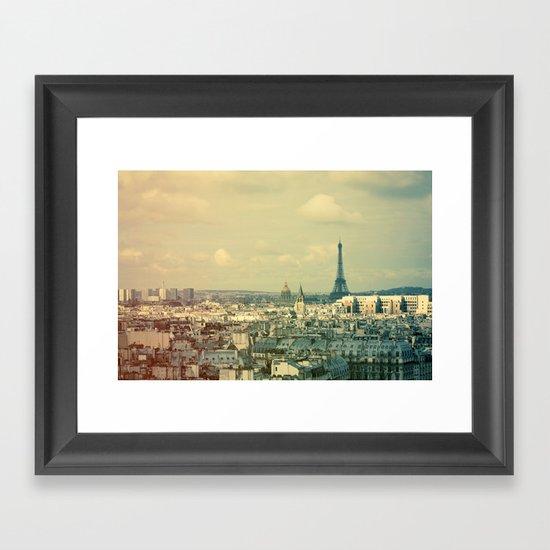 Pale Paris Framed Art Print