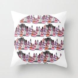 Bear and macaroons!  Throw Pillow
