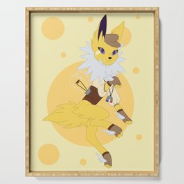 Electric Stampunk Fox Serving Tray