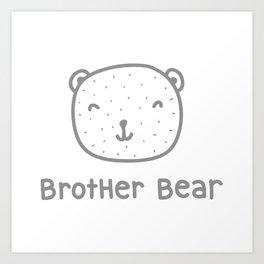 Brother Bear Black Art Print