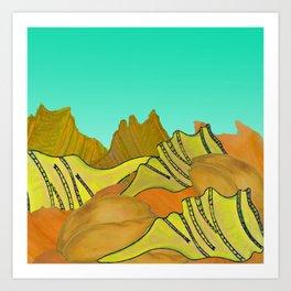 Australica Beach Shells Art Print