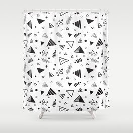 Organic Triangles Shower Curtain