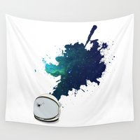 spaceman Wall Tapestries featuring Spaceman Mind Explosion by George Williams