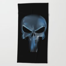 The Punisher Scary Face Beach Towel