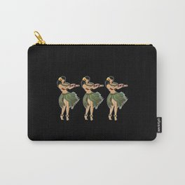 Beautiful Hula Girl Dancing the Hula BLK Carry-All Pouch