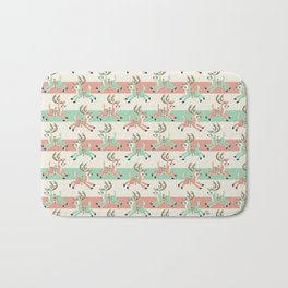 Candy Cane Reindeer Badematte