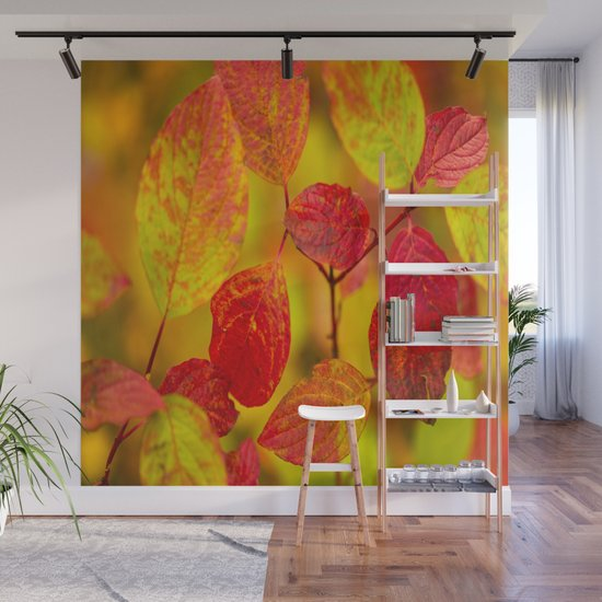 Red autumn leaves #decor #society6 #buyart by pivivikstrm