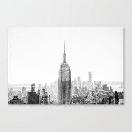 Black and White Cityscape Canvas Print
