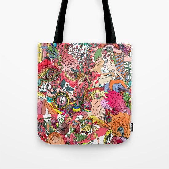 Of the Hare Meadow Tote Bag