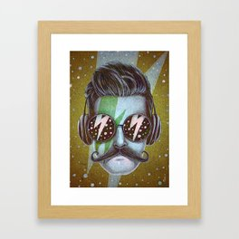 Dude (green) Framed Art Print