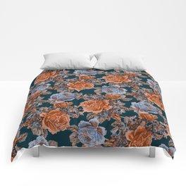 English Garden - Burnt Sienna/Navy Comforters