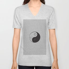 Yin Yang / Sun and Moon Unisex V-Neck