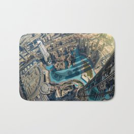 On top of the world, Burj Khalifa, Dubai, UAE Bath Mat