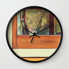 TRAM, LISBON, COLOR, YELLOW Wall Clock
