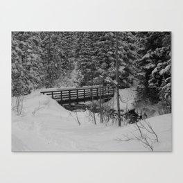 Snowshoe Bridge Canvas Print