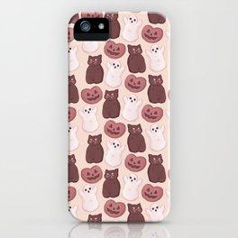 Halloween Marshmallows Soft Orange iPhone Case