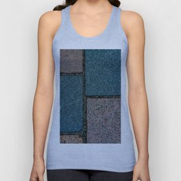 Blue and White Pavement Tiles Unisex Tank Top