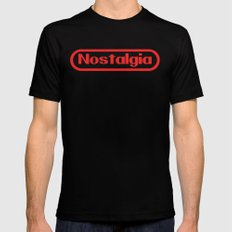 Retro Gamer Nostalgia Mens Fitted Tee Black MEDIUM