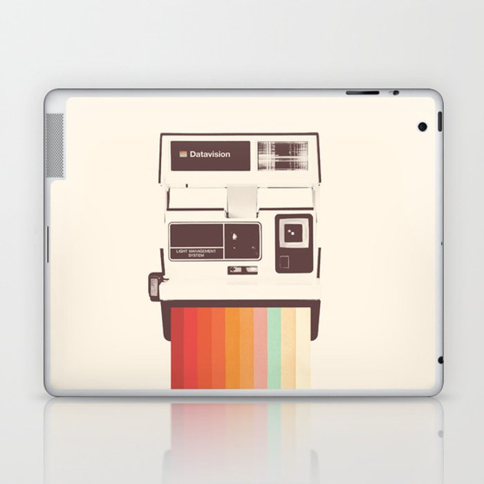 Instant Camera Rainbow Laptop & iPad Skin