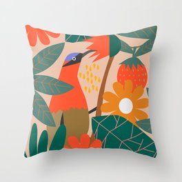 Cute pollinator Throw Pillow
