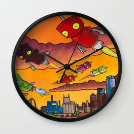 Robot - Air Traffic Wall Clock