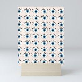 Blue evil eye Mini Art Print