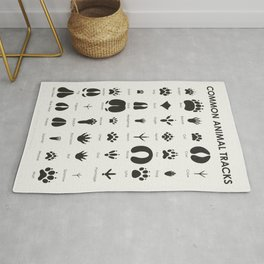 Common Animal Tracks Rug