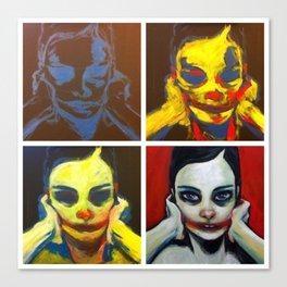 Process 01 (smile, darn ya, smile) Canvas Print