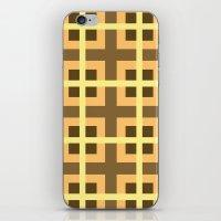 yellow pattern iPhone & iPod Skins featuring Pattern Yellow by BobbyK