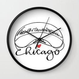 """Chicago Cloud Gate """"Bean"""" Wall Clock"""