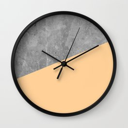 Geometry 101 Orange Sherbet Wall Clock