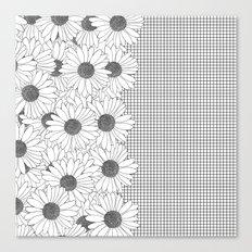 Daisy Grid on Side Canvas Print