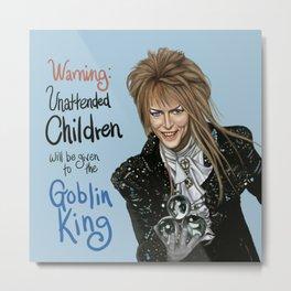 Goblin King Jareth Metal Print