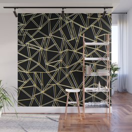 Ab Gold and Silver Wall Mural