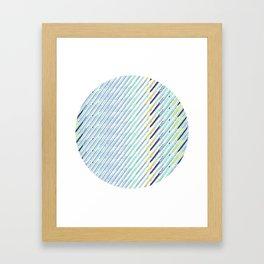 Green Drops of Time Framed Art Print