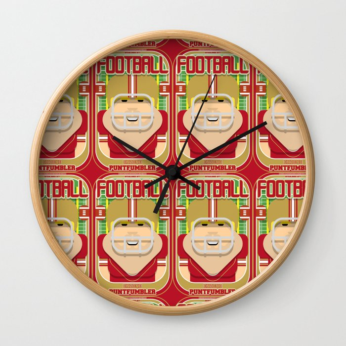 American Football Red and Gold - Enzone Puntfumbler - Sven version Wall Clock