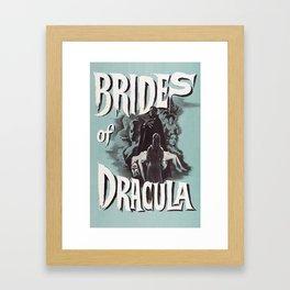 Brides of Dracula, vintage horror movie poster Framed Art Print