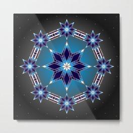 Morning Star Circle (Blue) Metal Print