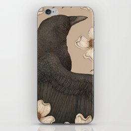 The Crow and Dogwoods iPhone Skin