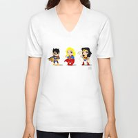 girl power V-neck T-shirts featuring Girl Power by Nate Kelly